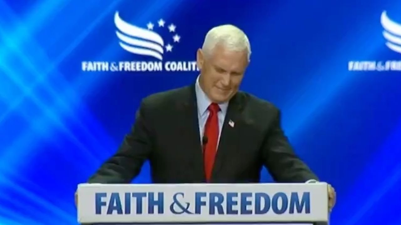 Mike Pence called 'traitor' at summit
